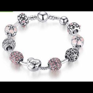 Jewelry - Silver love charm bracelet